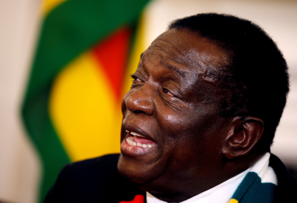 Zimbabwe President Emmerson Mnangagwa speaks at a media conference at State House in Harare, Zimbabwe, in this Aug. 3, 2018 file photo. — Reuters