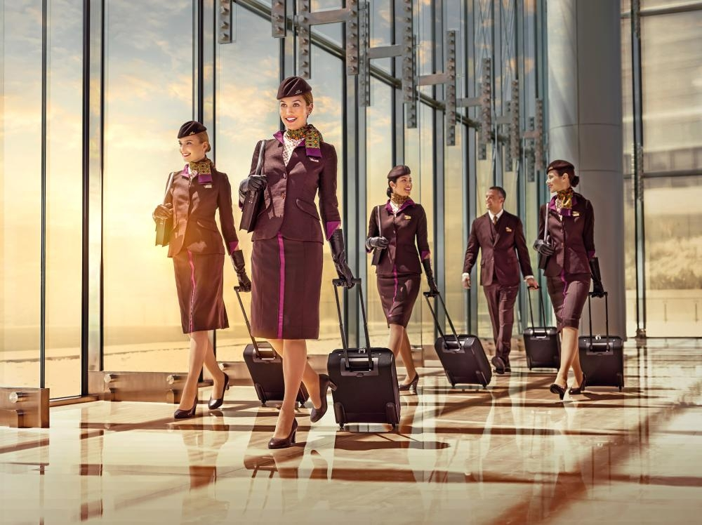 Etihad Airways employs over 4,800 cabin crew representing 115 nationalities