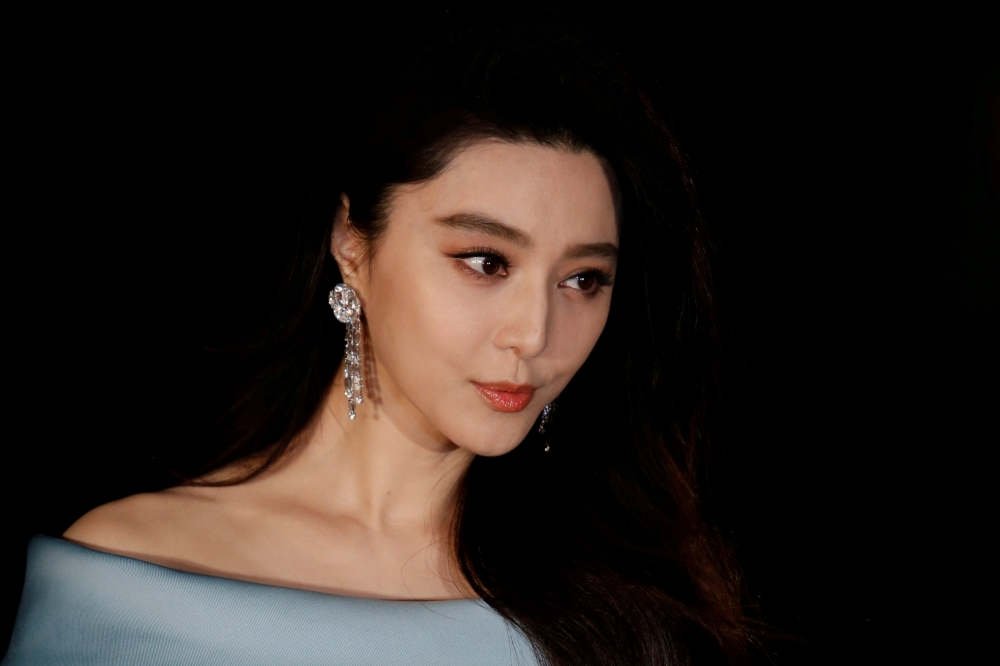 Chinese actress Fan Bingbing poses on the red carpet at the Asian Film Awards in Hong Kong in this March 21, 2017, file photo. — Reuters