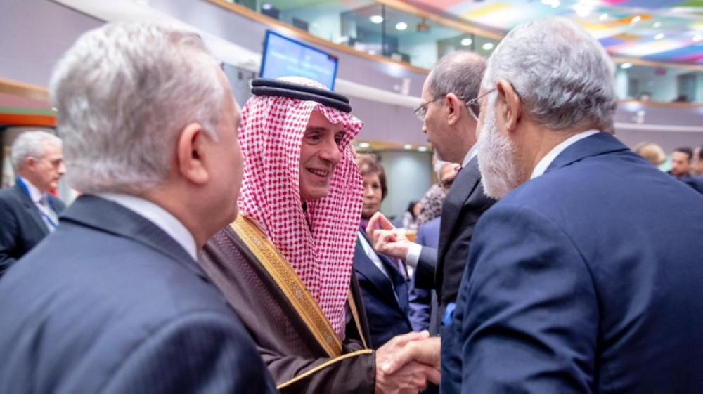 Saudi Minister of State for Foreign Affairs Adel Al-Jubeir at the EU-Arab League ministerial meeting in Brussels on Monday.