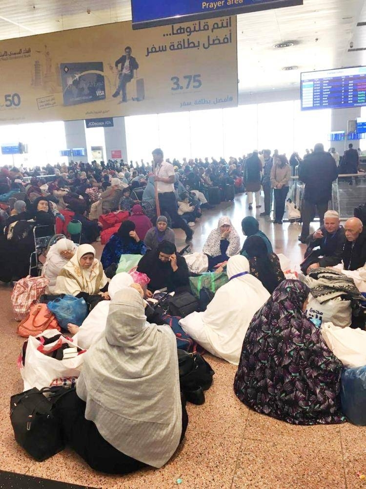 According to the airport authority, the huge volume of Umrah traffic around this time of the year is the reason behind the crowding of Jeddah airport lounges these days.