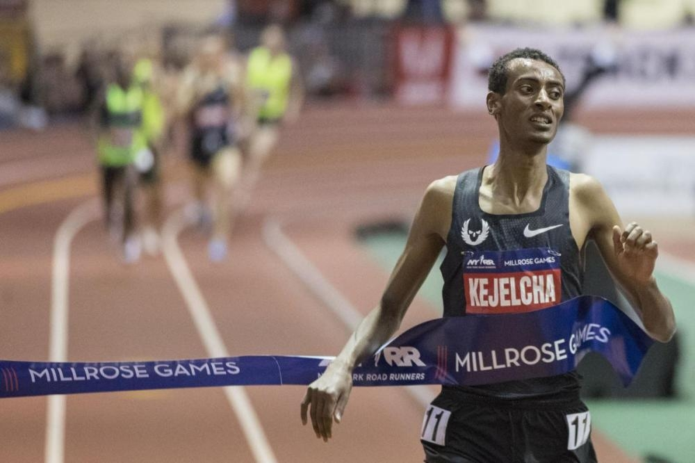 Kejelcha just misses world indoor mile record - Saudi Gazette