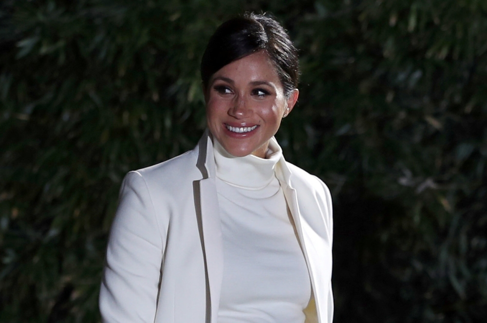 Meghan, Duchess of Sussex, arrives at the Natural History Museum in London, Britain, Tuesday. — Reuters