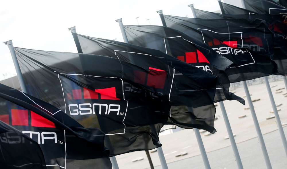 GSMA flags fly at the Mobile World Congress in Barcelona, in this file photo. — Reuters