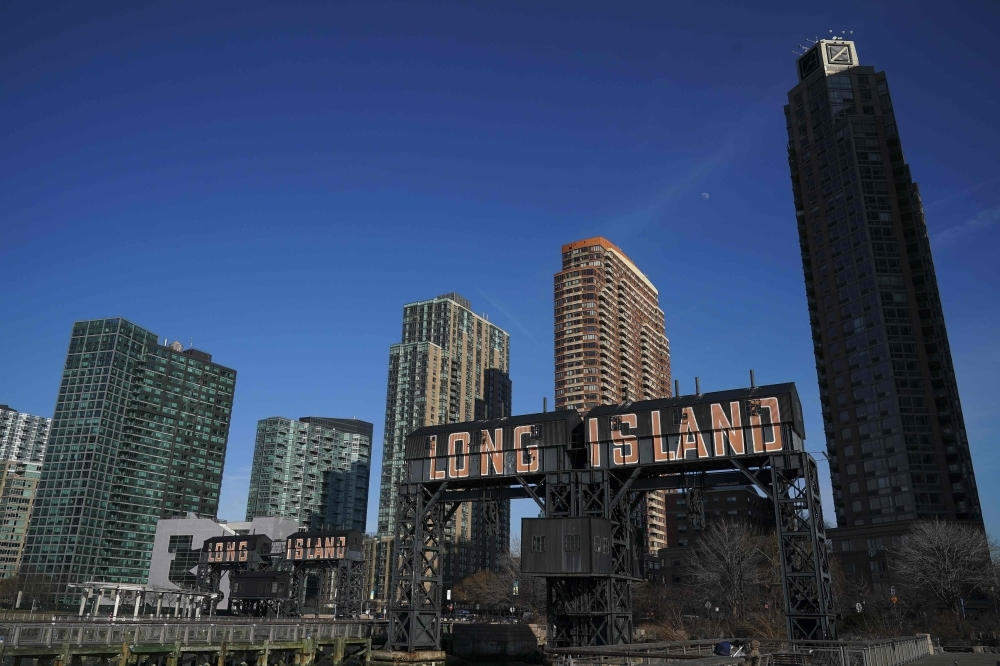 A view of Gantry Plaza State Park along the waterfront in Long Island City in the Queens borough of New York City. Amazon said on Thursday that they are canceling plans to build a corporate headquarters in Long Island City, Queens after coming under harsh opposition from some local lawmakers and residents. — AFP