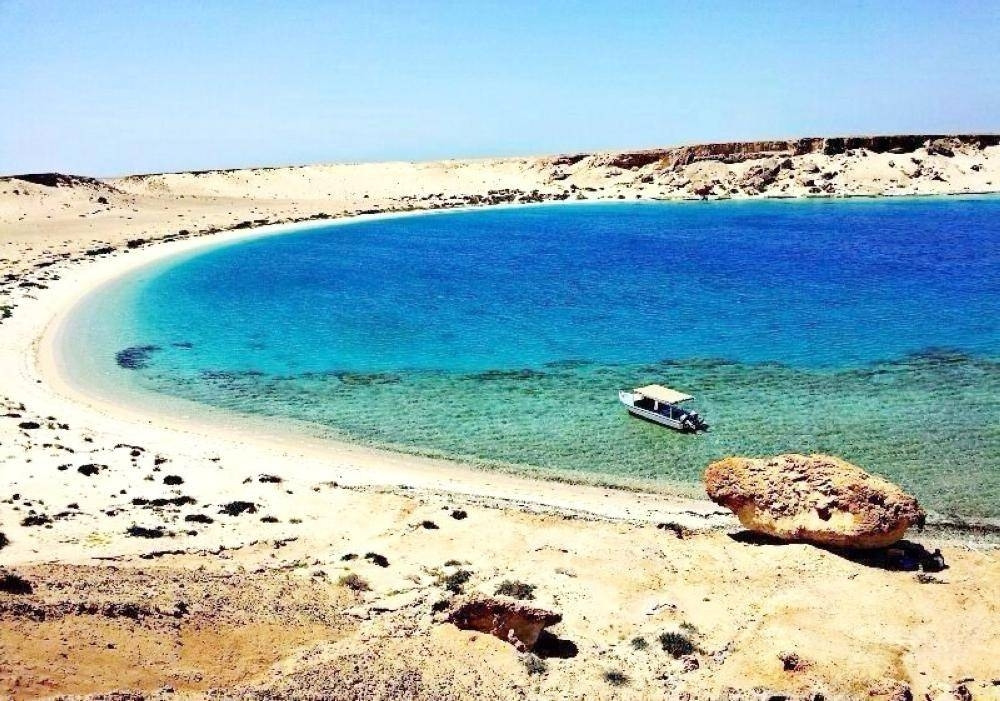 Noaman Island, west of Dhiba in Tabuk, which is part of Saudi Arabia's ambitious tourism development plan.