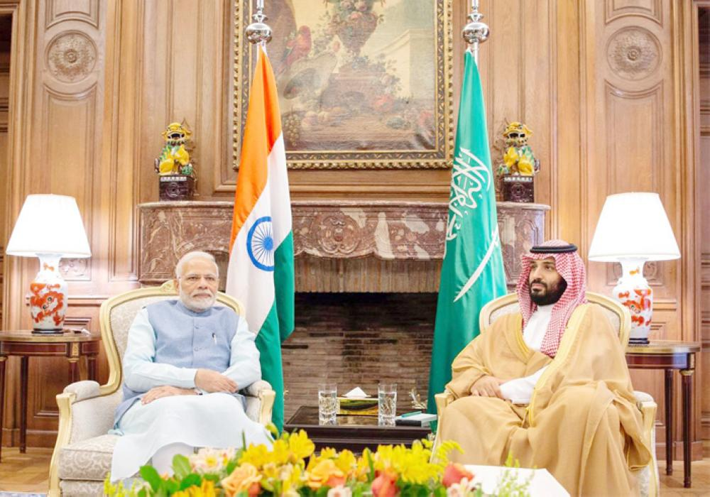Crown Prince Muhammad Bin Salman meets with India's Prime Minister Narendra Modi in Buenos Aires, Argentina, in this file photo. — Reuters
