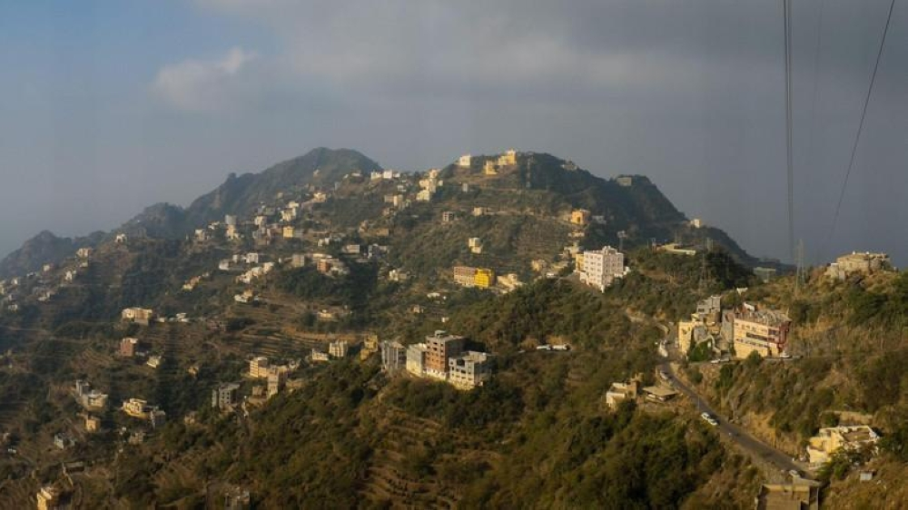 Homes and businesses atop Faifa Mountain, east of Jazan. — Photo courtesy: Andrew Leber