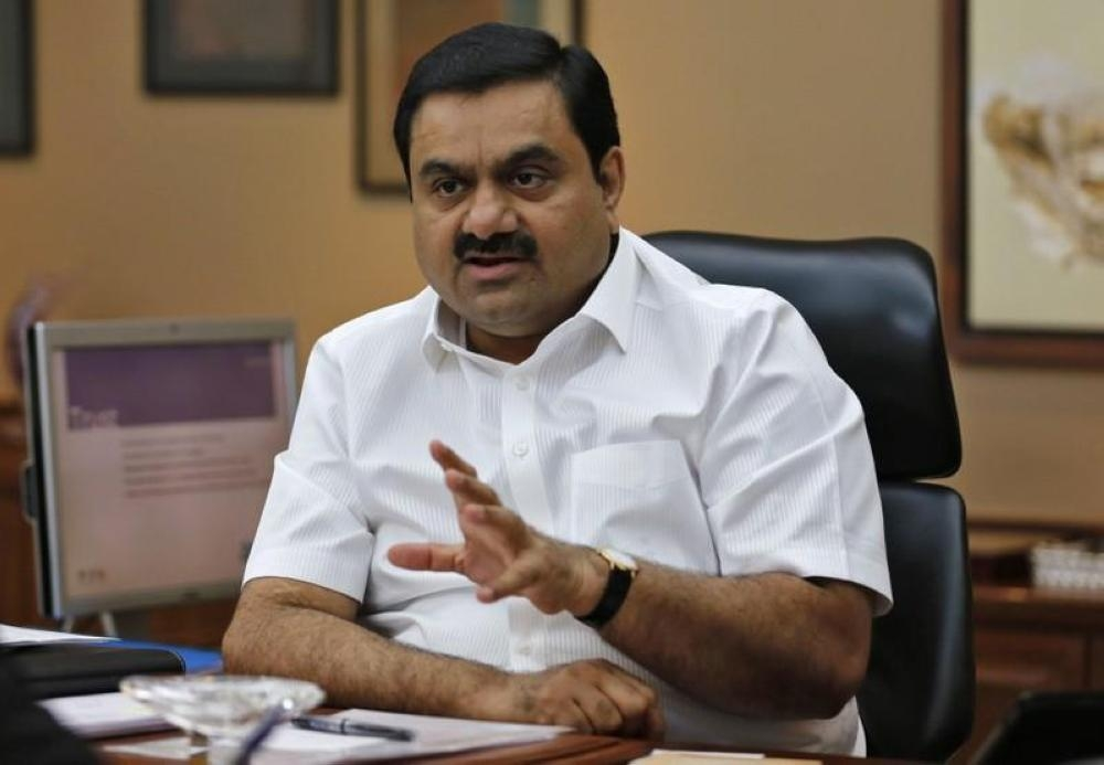 File photo of Indian billionaire Gautam Adani speaks during an interview with Reuters at his office in the western Indian city of Ahmedabad. — Reuters
