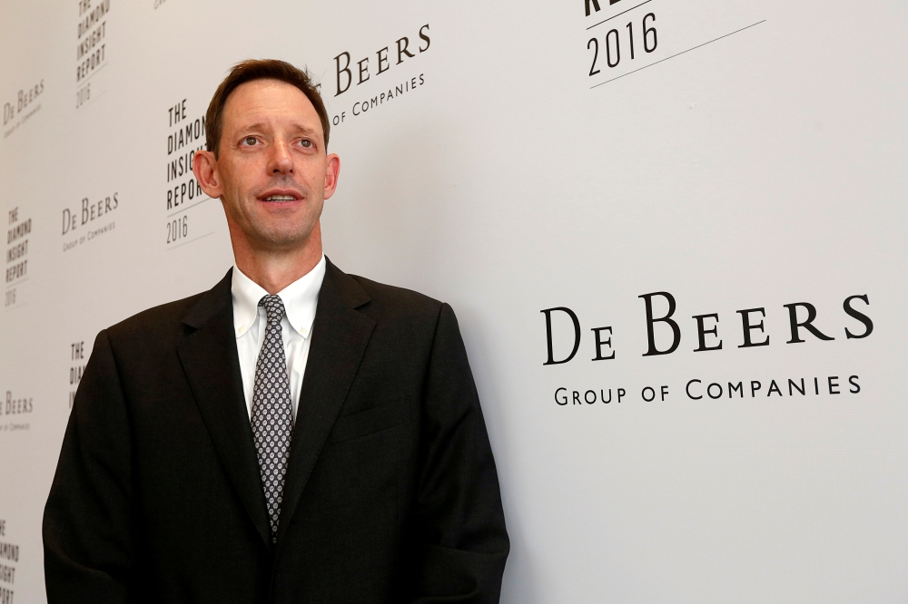 File photo shows Bruce Cleaver, CEO of De Beers, in Hong Kong, China. — Reuters