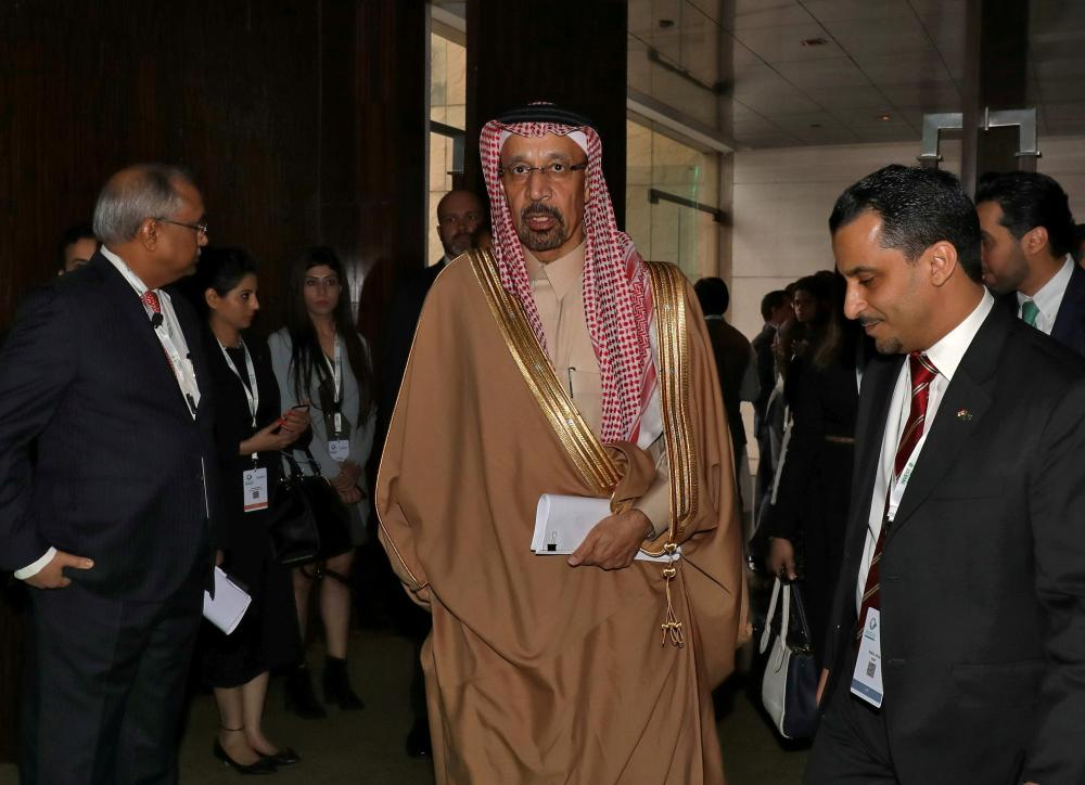 Minister of Energy, Industry and Mineral Resources Khalid Al-Falih arrives to attend the Saudi-India Forum in New Delhi, India, on Wednesday. Several MoUs were inked in the forum. According to the MoUs, several Bollywood celebrities will perform in the concerts being held in the Kingdom. — Reuters