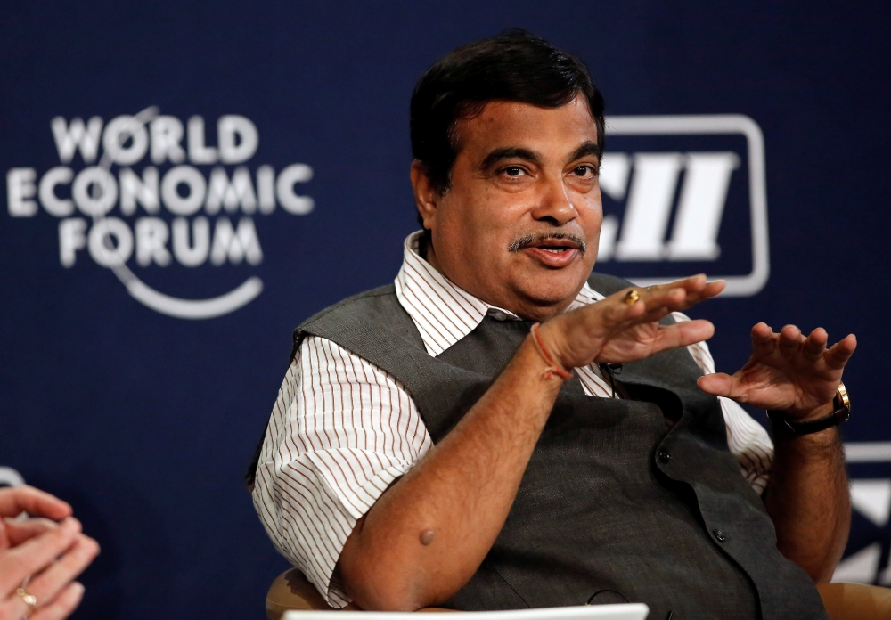 India's Transport Minister Nitin Gadkari speaks during the India Economic Summit 2014 at the World Economic Forum in New Delhi in this Nov. 5, 2014 file photo. — Reuters
