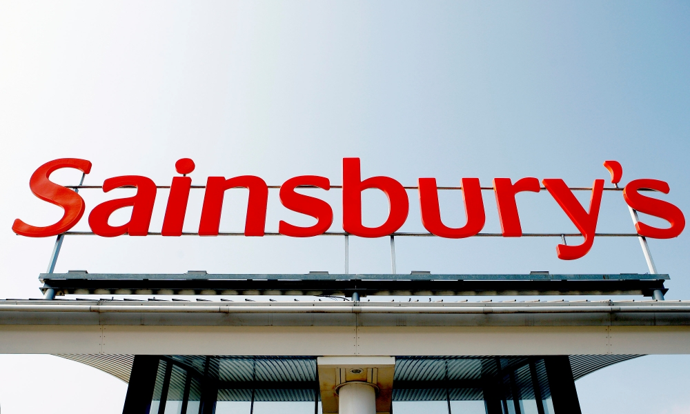 A Sainsbury store sign is seen in south London in this file photo. — Reuters