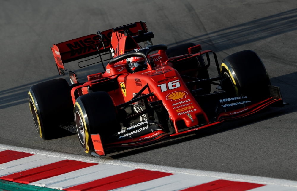Ferrari's Charles Leclerc during testing at the Circuit de Barcelona-Catalunya, Barcelona, Spain, on Thursday. — Reuters