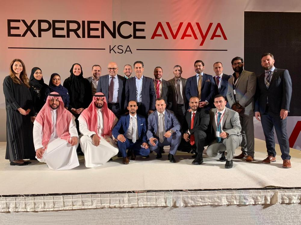 Avaya officials and participants at the Experience Avaya 2019 conference in Jeddah. — Courtesy photo