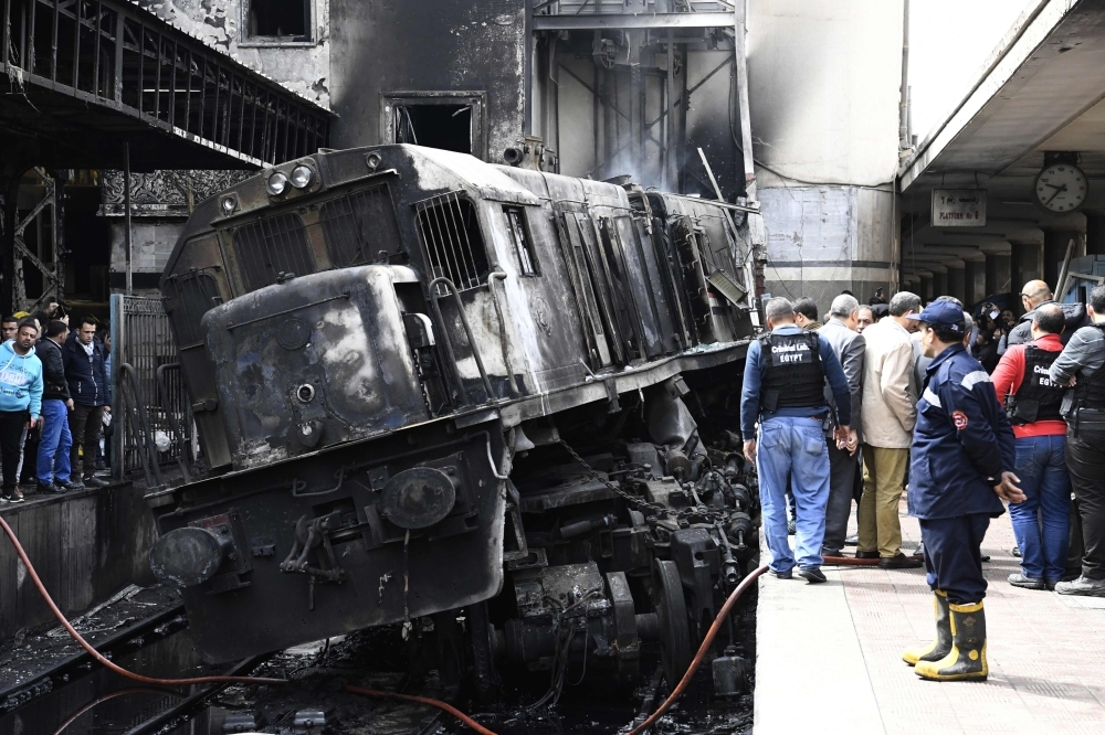 Deadly fire after train crashes at Cairo's main station