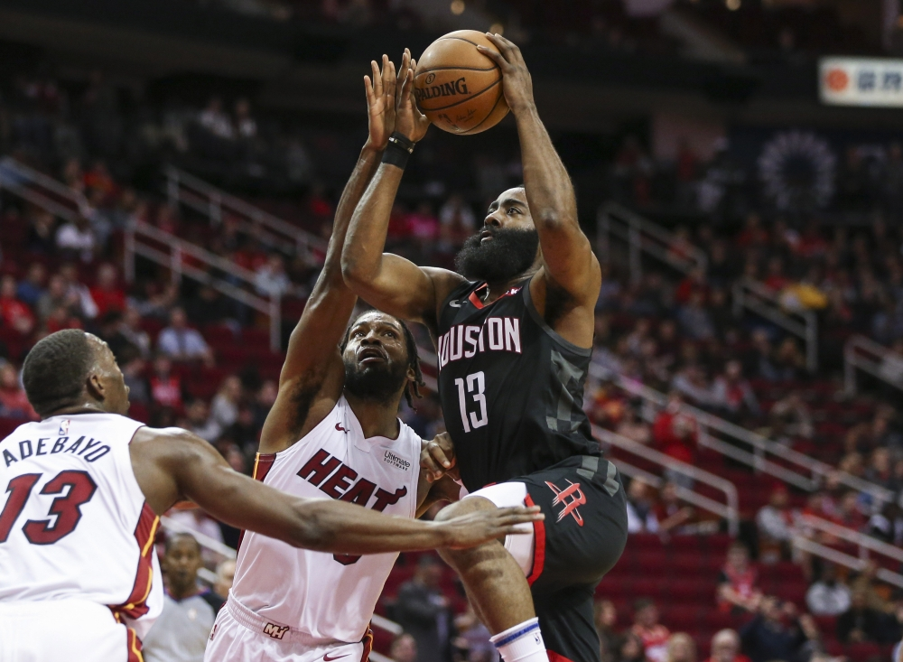 James Harden scores 58 points, Rockets rally to beat Heat 121-118
