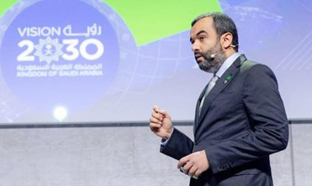 Minister of Communication and Information Technology Abdullah Al-Sawaha addressing the Mobile World Congress (MWC) in Barcelona. — File photo