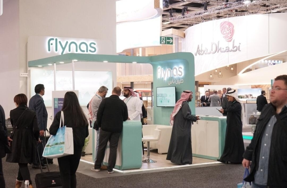 The flynas booth at the ITB Berlin 2019. — Courtesy photo