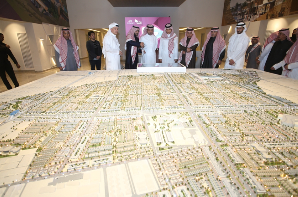 AWJ Real Estate launched on Monday the Rabwa Project in Riyadh, in the presence of Minister of Housing Majed Bin Abdullah Al-Hogail. — Courtesy photo
