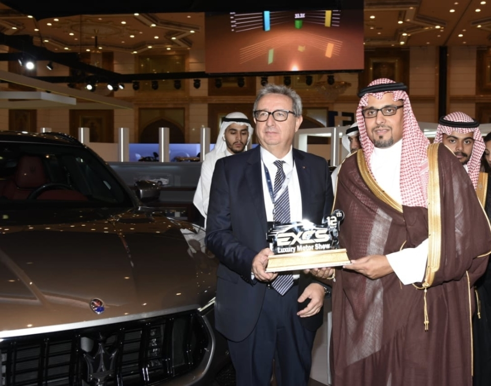 Maserati unveiled at the 12th annual EXCS Motor Show in Jeddah.