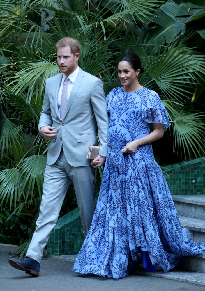 Britain's Meghan, Duchess of Sussex and Prince Harry the Duke of Sussex