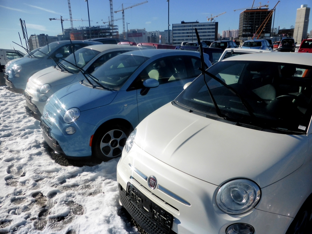 Second-hand Fiat 500e cars, imported from California, US, are seen at the Buddy Electric car dealership in Oslo, Norway. — Reuters