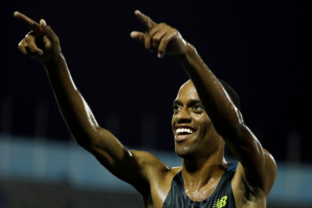 Jamaica's Kemoy Campbell after winning the Men's 5000m final of the JAAA National Senior Championships at the National Stadium Kingston, Jamaica, in this file photo. — Reuters