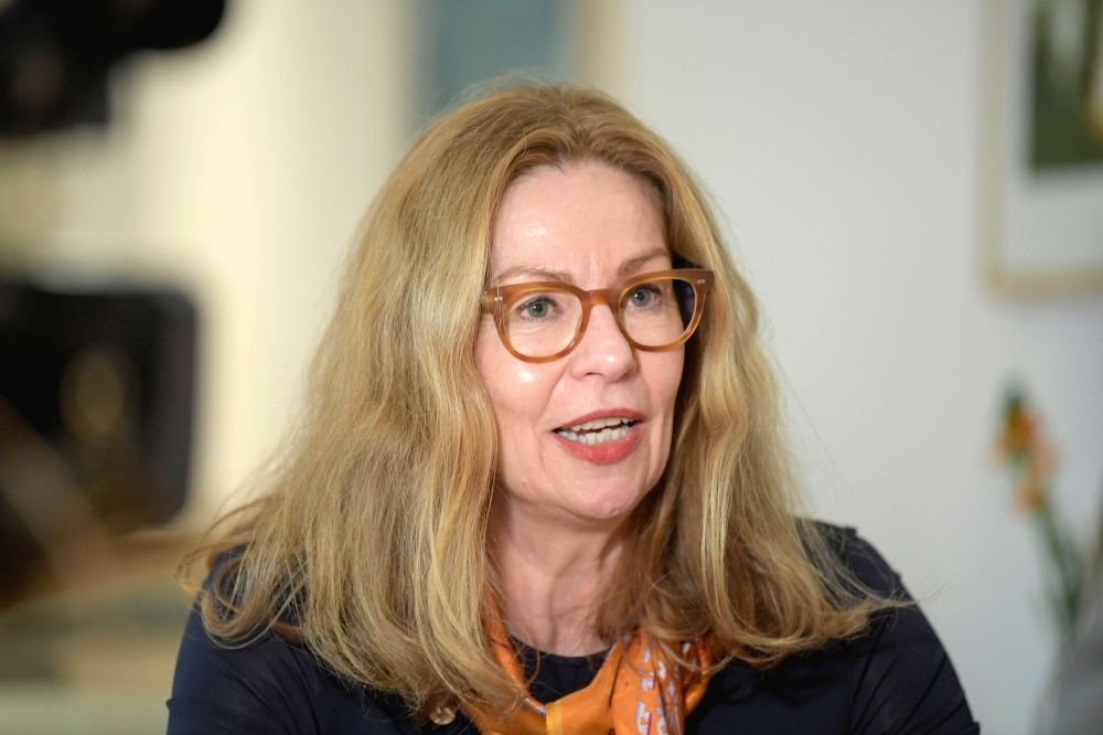 Picture shows Swedbank's CEO Birgitte Bonnesen during an interview in Sockholm, Sweden. Swedbank, in the focus of investigators in connection with a larger money laundering scandal, has fired its CEO Birgitte Bonnesen on Thursday. — AFP