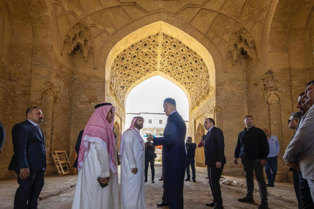Minister of Culture Prince Badr Bin Abdullah Bin Farhan and Iraqi Minister of Culture and Tourism Dr. Abdulkarim Al-Hamdani on Thursday visit cultural and historical areas in the Iraqi capital.