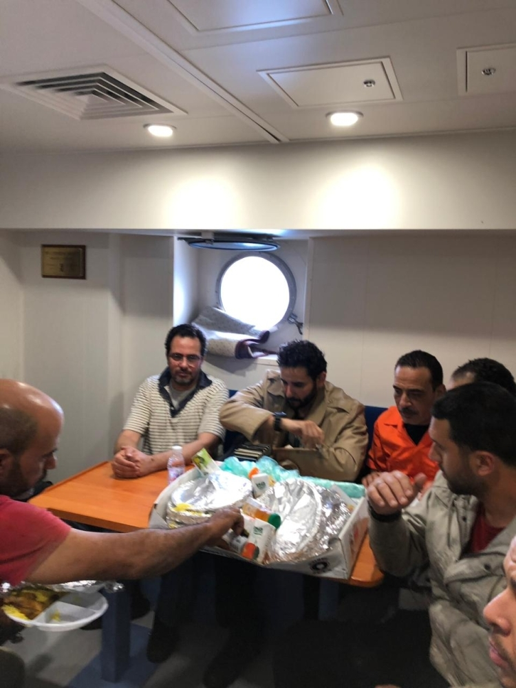 The rescued sailors were received with warm hospitality and were given the necessary medical care.