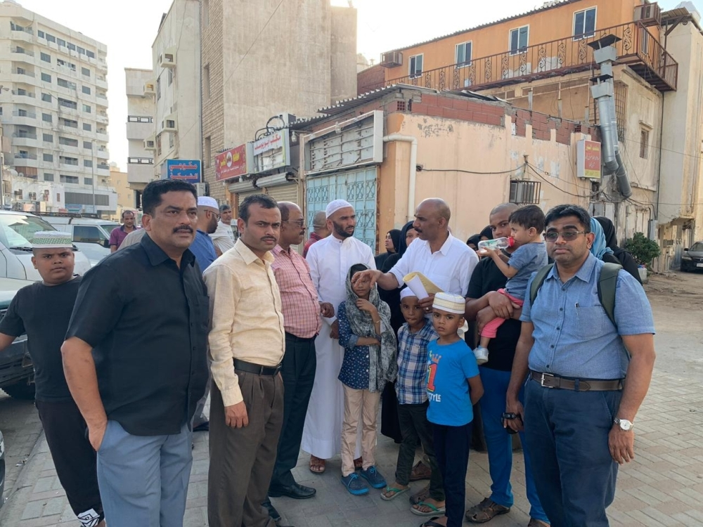 Members to the expatriate group who arrived from Kuwait for Umrah and lost their passports in Makkah talk about their predicament during their visit to the Consulate General of India in Jeddah.