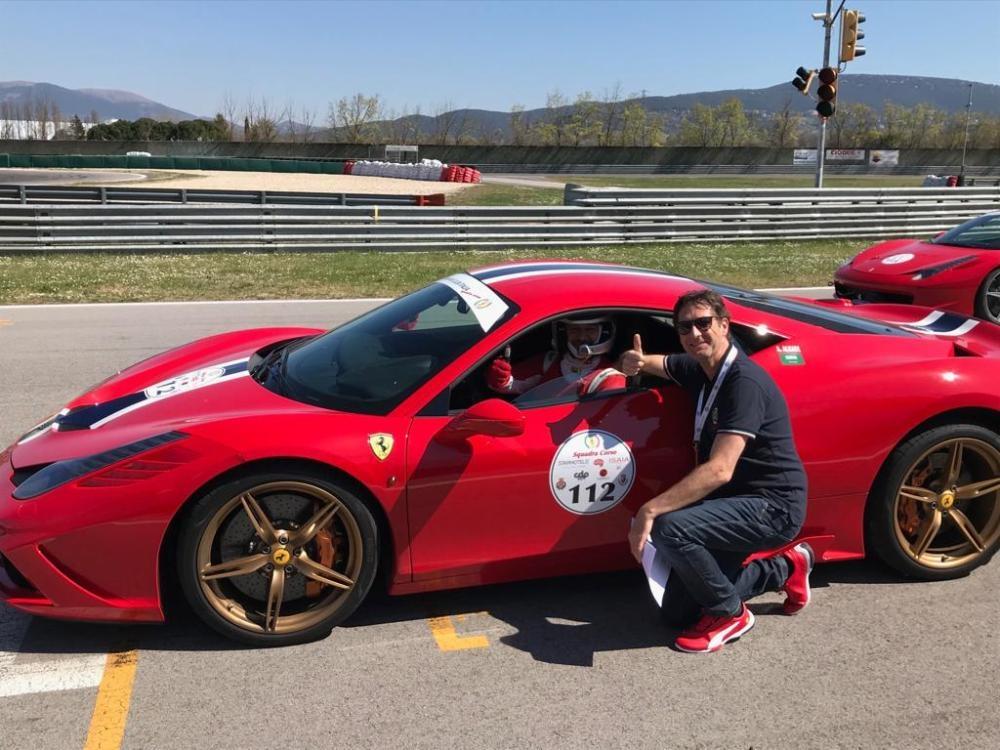 Engr. Ammar Alkadi with Ferrari President Vincenzo Gibiino