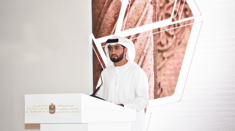 A festival organizer outlines the activities of the celebrations at a press conference in Abu Dhabi.