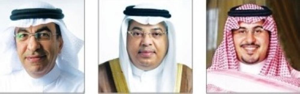 (L-R): Raid Bin Ibrahim Al-Midaihim, Saleh Al-Suraie and Ahmed Bin Sajdi Al-Atawi.