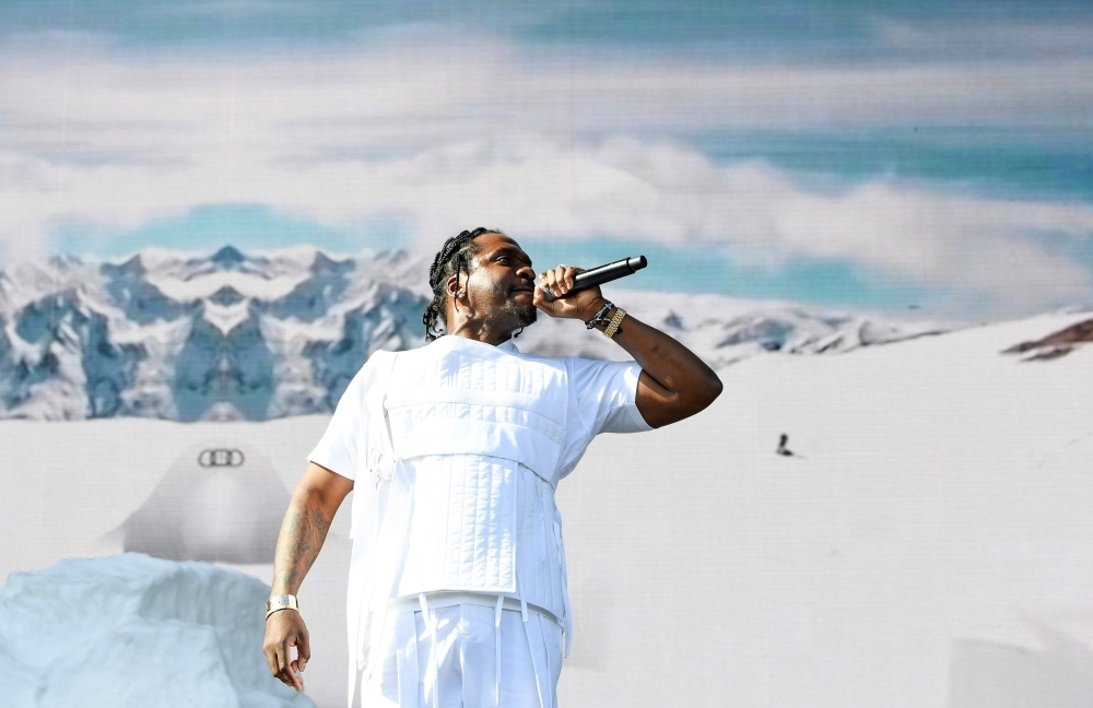 US rapper Pusha T performs on stage at the Coachella Valley Music and Arts Festival in Indio, California. — AFP