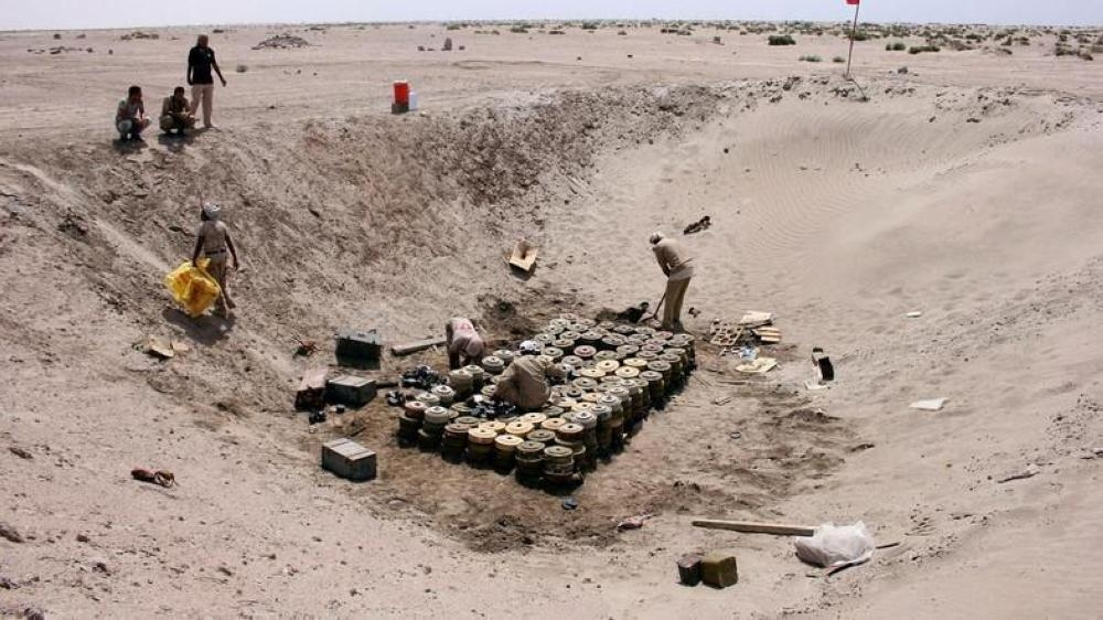 The MASAM project of King Salman Humanitarian Aid and Relief Center (KSrelief) has successfully cleared hundreds of mines, planted by Houthi militias in Yemen. — File photo