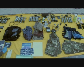 A cache of arms recovered from a hideout. — SPA photos