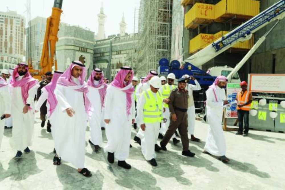 Deputy Emir of Makkah Prince Badr Bin Sultan inspects the Grand Mosque to check on the preparations to welcome the huge influx of worshippers during the holy month of Ramadan.