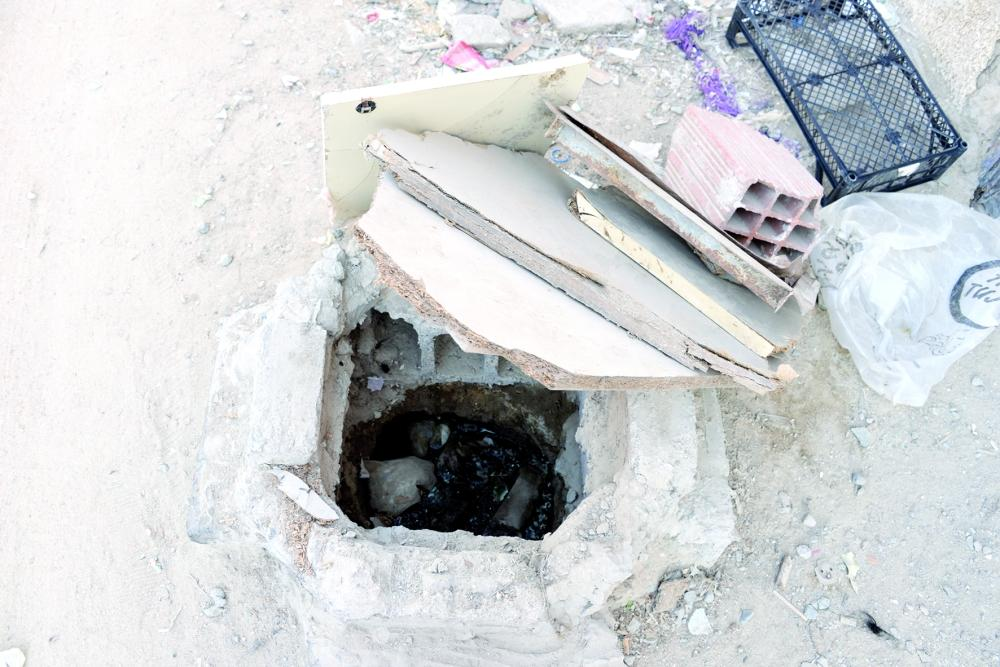 Many areas of the district have become open sewers.