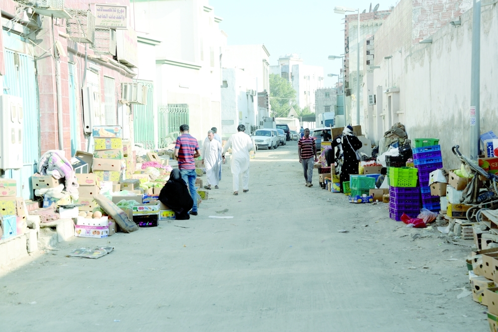 The Karantina district in south Jeddah lacks modern roads and most houses are located in narrow alleys where the residents cannot take their vehicles.