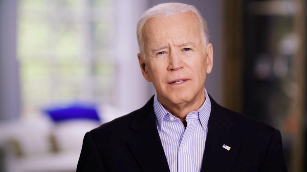 Former US Vice President Joe Biden announces his candidacy for the Democratic presidential nomination in this still image taken from a video released on Thursday. — Reuters