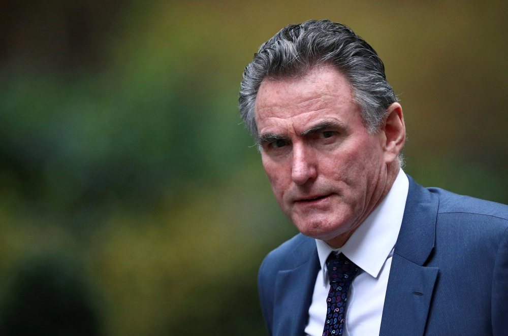 Royal Bank of Scotland chief executive Ross McEwan is seen outside Downing Street in London, Britain, in this recent file phot. — Reuters