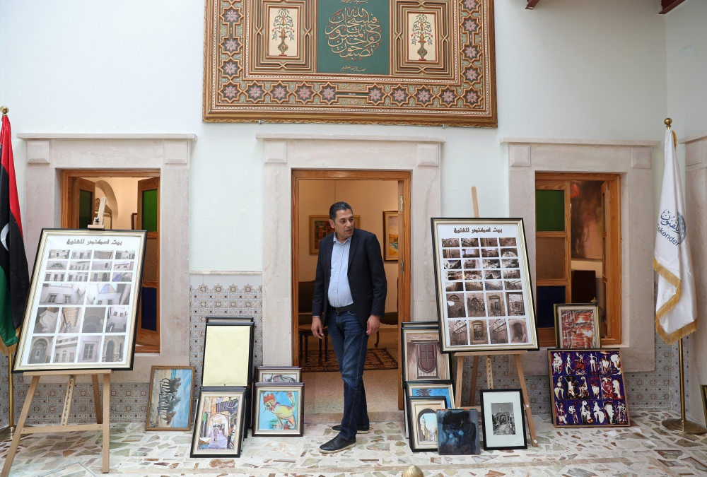 Libyan businessman Mustafa Iskandar is seen at his art gallery and cultural centre in the old city of Tripoli, Libya, in this April 23, 2019 file photo. — Reuters