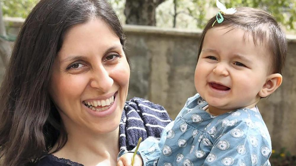 Jailed British-Iranian aid worker Nazanin Zaghari-Ratcliffe is seen with her daughter Gabriella in this file photo. — AFP