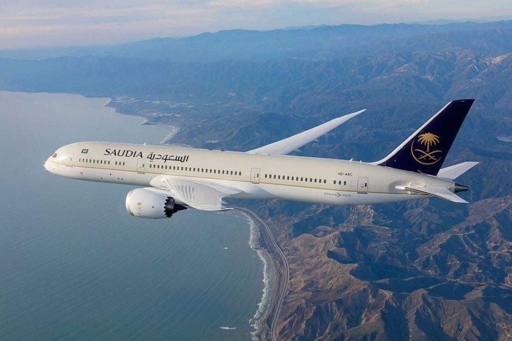 A Saudi Arabian Airlines (Saudia) airplane is seen in this file photo.