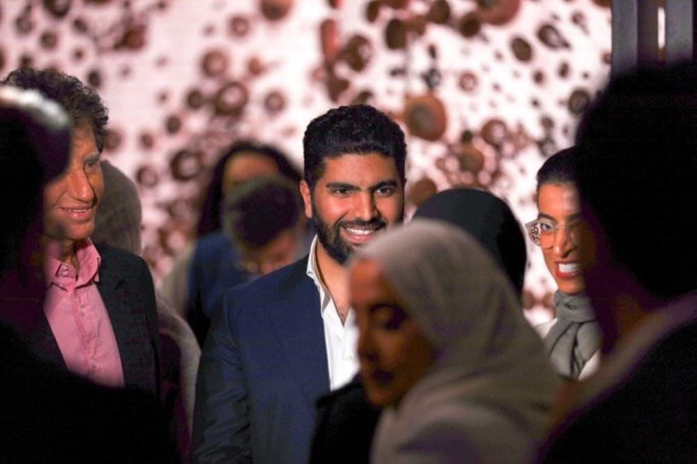 Minister of Culture and Chairman of the Board of Directors of Misk Art Institute Prince Badr Bin Abdullah Bin Farhan is seen with Noura Al Kaabi, minister of culture and knowledge development of the United Arab Emirates at the 58th Venice Biennale 2019 Art Exhibition. — SG