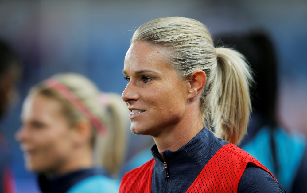 France's Amandine Henry during the warm up for the recent Women's International Friendly against Denmark at the Stade de la Meinau, Strasbourg, France. — Reuters