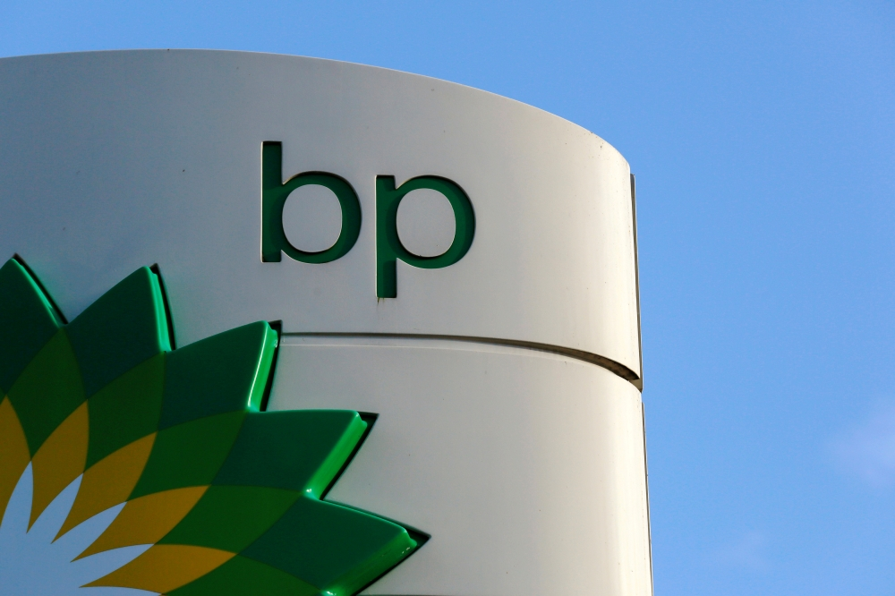 A BP logo is seen at a petrol station in London, Britain, in this file photo. — Reuters