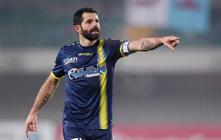 Chievo Verona's Sergio Pellissier gestures during the match against Inter Milan in Verona in this Dec. 22, 2018 file photo. — Reuters